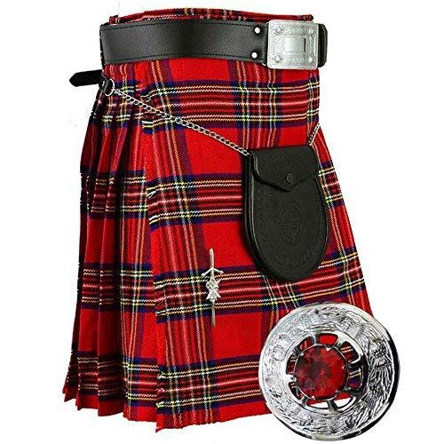 Laine Stewart Écossais Acrylique Highland Ensemble Traditionnel Ajustement 8 À Yards 6 Royal Tartan Kilt Pièces yNn8v0OPmw