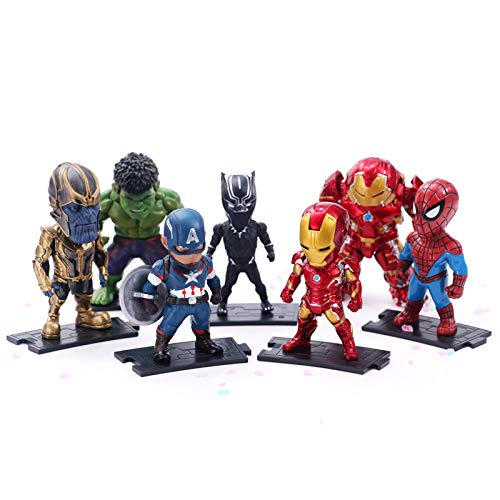 Gylewj 7 Vengadores Iron Man 3 Escuadra Hulk Pantera Capitán ...