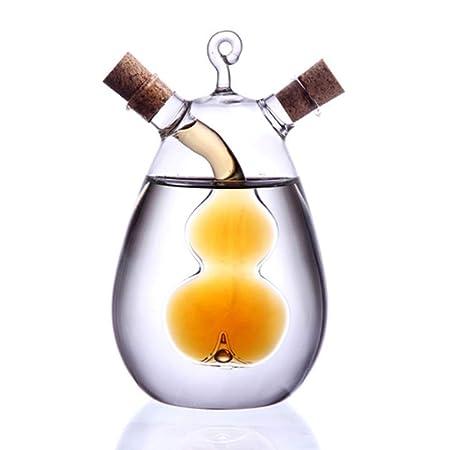 Ölflasche Gewürzspender aus Glas, versiegeltes Gewürzglas, klein, Essigbehälter mit Korken, 350 ml