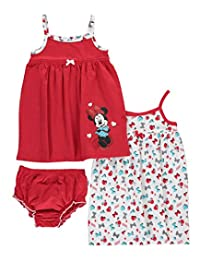 "Minnie Mouse Baby Girls' ""Bold Minnie"" 2-Pack Dresses"
