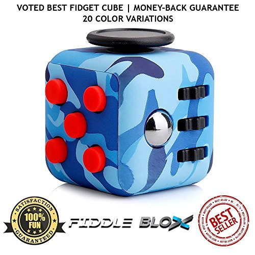 Fiddle Blox Premium Fidget Cube Toy For Stress Anxiety Relief By Sensory Anti