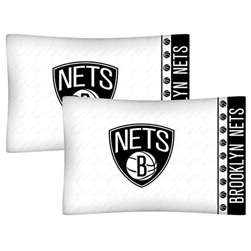 - 2pc NBA Brooklyn Nets Pillowcase Set Basketball Team Logo Bedding Pillow Covers