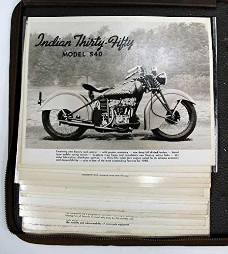 SALESMAN'S ALBUM With 60 PHOTOGRAPHIC IMAGES Of INDIAN MOTORCYCLES.
