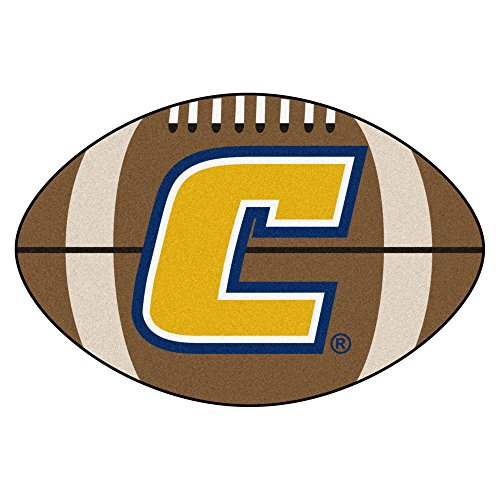 NCAA University Tennessee Chattanooga Mocs Football Shaped Mat Area Rug