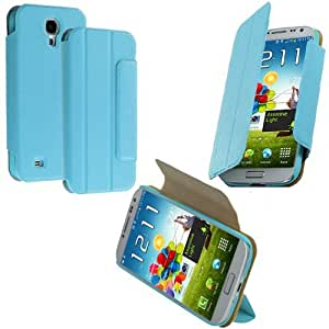 Accessory Planet(TM) Baby Blue Tri-Fold Leather Wallet Case Cover Pouch Accessory for Samsung Galaxy S4 by lolosakes