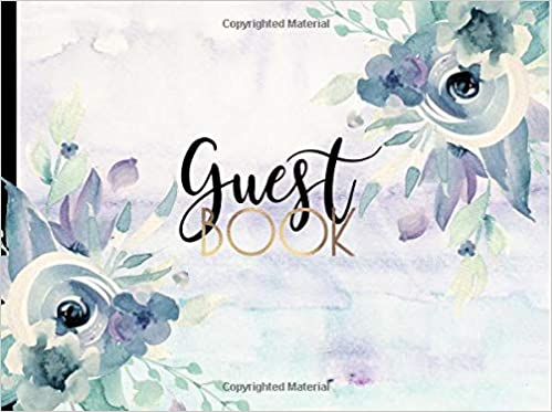 a32dc5495682 Guest Book  GORGEOUS Watercolor (Purple) Boho Chic With Gold Text ...