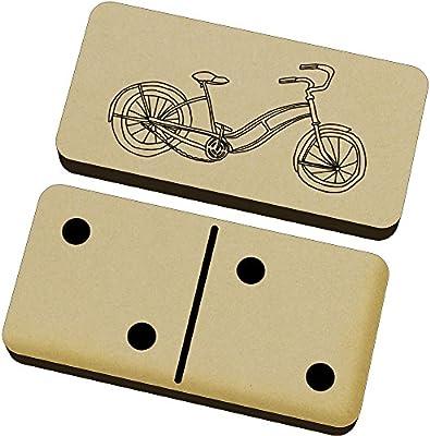 Azeeda Bicicleta de Pedales Domino Juego y Caja (DM00010176 ...