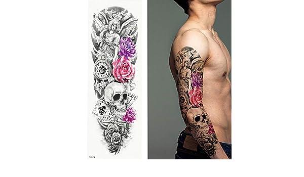 7pcs Pieza tatuaje del cráneo de aves tiempo completo ojos del ...