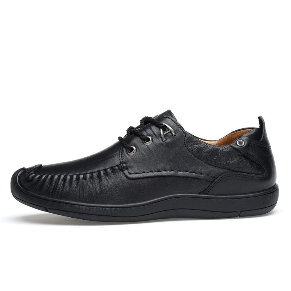 Noir Ofgcfbvxd-Msh Chaussures habillées habillées pour Hommes Mocassins de Conduite de Loisir à Bouts Ronds à Bouts Plats en Cuir à Lacets et à Lacets Chaussures Modernes Formelles à Lacets  détaillant de fitness