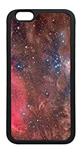 iPhone 6 Case, Sky Space Nebula Shine TPU Rubber Bumper Polycarbonate Hybrid Case Full Protection Case for iPhone 6 4.7 Black