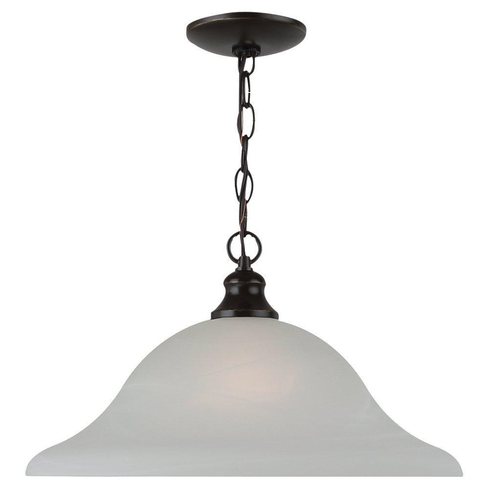 Sea Gull Lighting 65940-782 Windgate One-Light Pendant Hanging Modern Light Fixture, Heirloom Bronze Finish