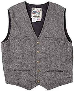 product image for SCHAEFER RANCHWEAR 828 MCKENZIE VEST (XL, Charcoal Herringbone)