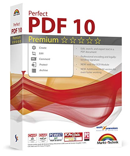 Perfect PDF 10 PREMIUM with the OCR Module Create, Edit, Convert, Protect,...