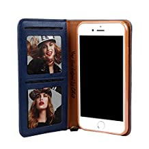 Businda Luxury Vintage iPhone 7/8 Case with Card Slots Dual Layer Design PU Leather with Auto Sleep/Wake Function Simple Stylish Phone Case for Men & Women