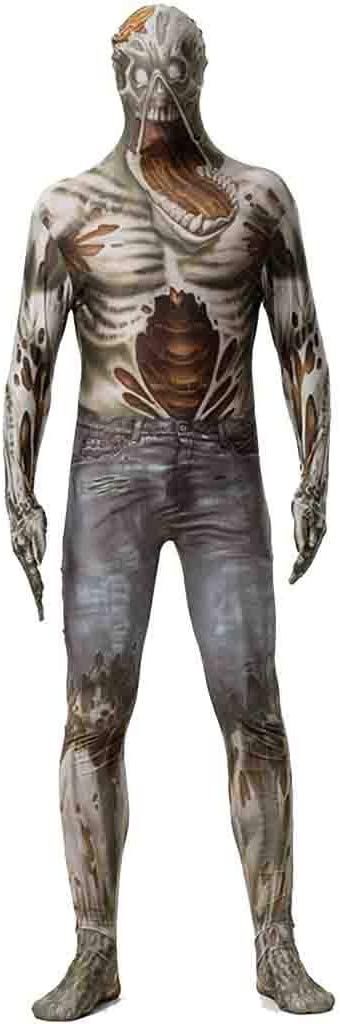 Horror de Halloween del traje del cráneo del zombi fantasma ...