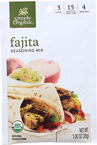 Simply Organic Fajita Seasoning Mix, Organic