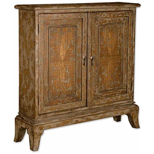 Uttermost 25526 Maguire Distressed Console (Hand Painted Console Cabinet)