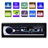 GiKPal Car Radio with Bluetooth In-Dash Single Din Car Stereo Receiver Car MP3 MP5 Player/ USB/SD/AUX/AM/FM/ with Car Radio Connector & Remove Control, 12 V Support, Black