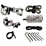 HBG Hunting Archery Pink/White Compound Accessory Combo 5-pin Bow Sight, Arrow Rest, Stabilizer, Braided Bow Sling, Peep Sight