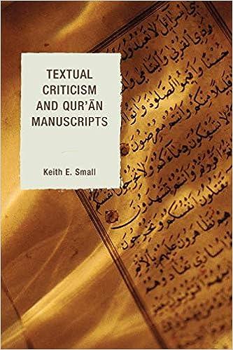 Amazon com: Textual Criticism and Qur'an Manuscripts (9780739177532