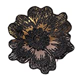 Black Lace Flower Custom Patches Sticker Sew On Applique-01