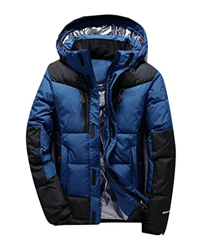 Hooded Outdoor UK Men's Down Jacket Thicken Blue Jacket Winter Quilted today Coat Outwear wq186II
