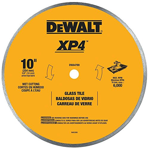 DEWALT DWA4769 Continuous Rim Glass Tile Blade, 10'' by DEWALT