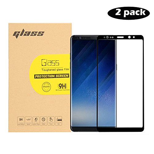 Fuloophi Samsung Galaxy NOTE 8 Screen Protector, 3D Curved Full Screen Coverage Tempered Glass Screen Protector HD Ultra Clear Film/Protective Guard/Anti-Bubble/Protects Against Scratches Drops