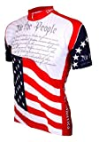 World Jerseys Men's U.S. Constitution Cycling Jersey, Red/White/Blue, Medium