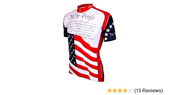 Amazon.com   World Jerseys Men s U.S. Constitution Cycling Jersey   Clothing 63fe9882b