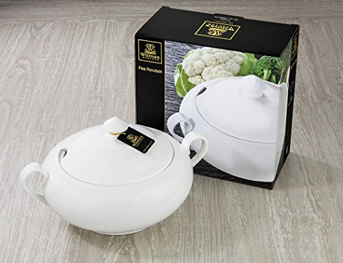 Wilmax Fine Porcelain Tureen 95 oz/2800 ml by Wilmax