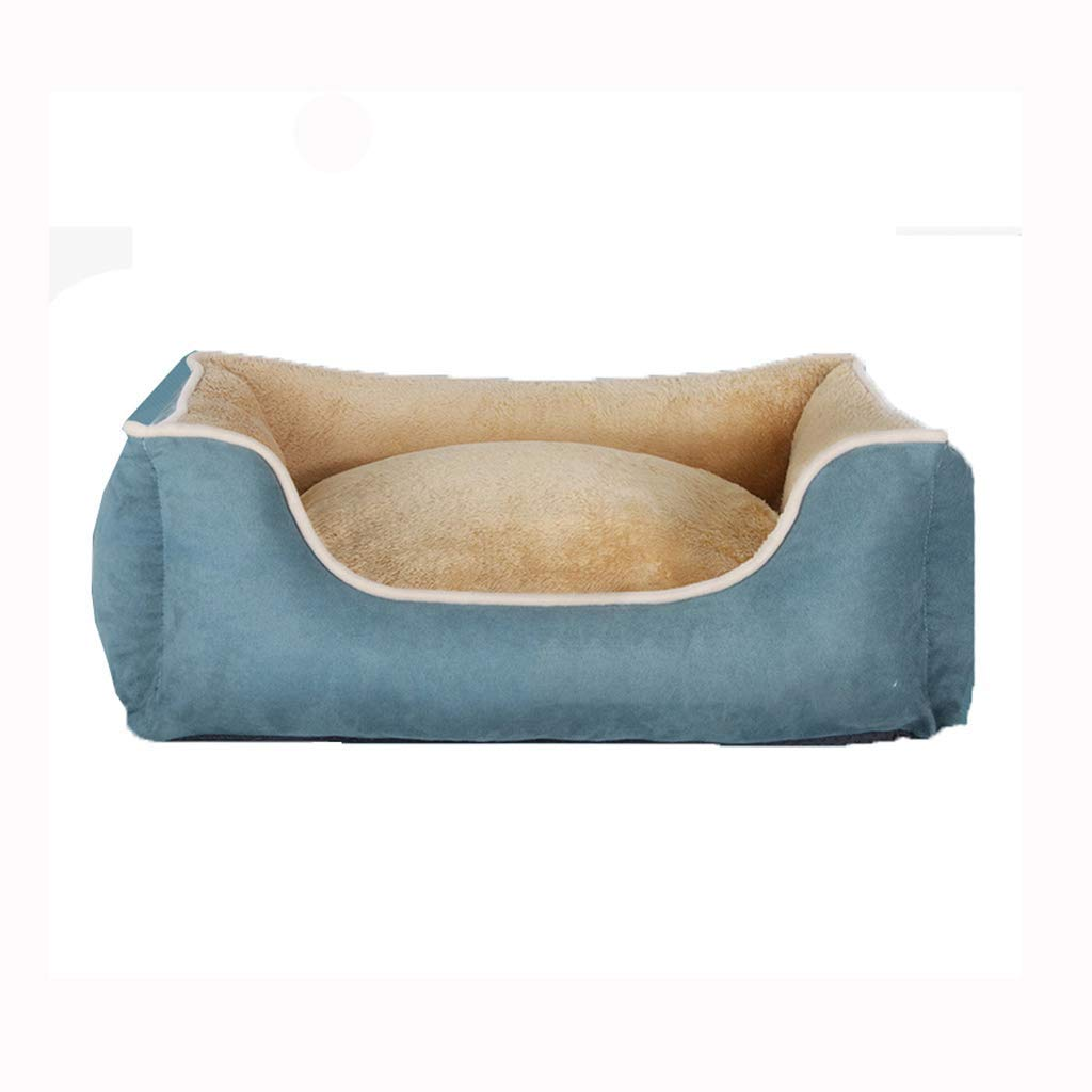 555020cm Kennel Pads Dog Beds bluee pet nest Teddy keel removle and washle Four Seasons Universal pet mat Large Medium Small Dog Winter Warmth Supplies Cat Bed Pet Supplies Cover (Size   55  50  20cm)