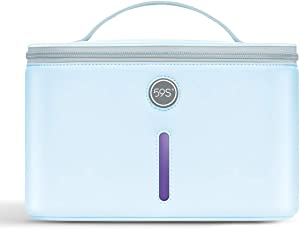 UV Light Sanitizer Bag, UVC Cleaner Sterilizer Disinfection Lamp Compact for Mobile Phone, Clothes, Glasses Kills 99.9% of Germs Viruses & Bacteria 59S P55
