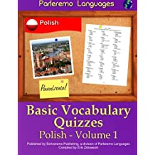 Parleremo Languages Basic Vocabulary Quizzes Polish - Volume 1