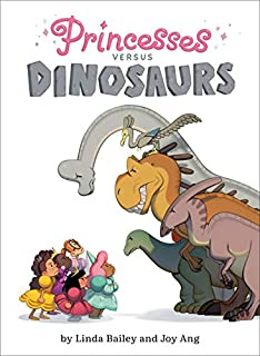 Book Cover: Princesses Versus Dinosaurs