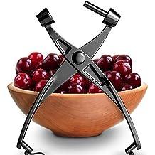 Premium Cherry Pitter Stoner - Olive Pitter Heavy Duty | Quality Finish | Includes Cherry Recipe EBOOK (Black)