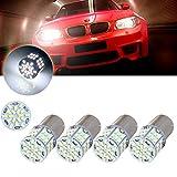 cciyu 4pcs 1156 54SMD White Led Light bulbs for Back Up Reverse Lights, Brake Lights, Tail Lights, RV lights