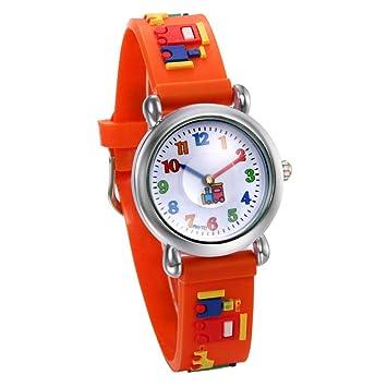 BEIBEILE Relojes para Niños Los Niños Ven Relojes De Moda Relojes De Cuarzo A Prueba De