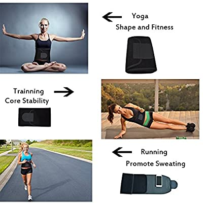 Singular point Waist Trimmer,Best Abdominal Trainer Adjustable Sweat Belt AB Belt Stomach Fat Burner Fast Weight Loss Wrap Body Shaper for Men and Women Back Lumbar Support with Sauna Suit Effect