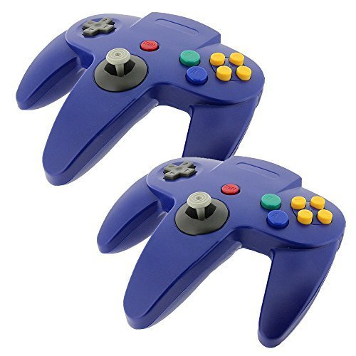 2 PCS NEW Long Controller Game System for Nintendo 64 N64 Blue US Ship (Assassins Creed 2 Costume)