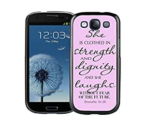 Element Samsung Galaxy S3 Case I9300 Durable Soft Silicone TPU Bible Quote God Black Cell Phone Case Cover