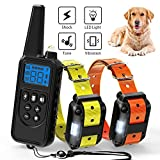 Training Dog Collar - Ace Teah Dog Training Collar,Rechargeable Dog Shock Collar with Beep Vibration Shock,100% Waterproof Training Collar LED Light 2600ft Remote Range Electronic Collar Shock for Small Medium Large Dogs