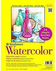 مجموعة ورق ستراتس مور 300 فئة ألوان مائية - ضغط بارد، عبوة واحدة، فيرسيو الأصلية، 24 ورقة