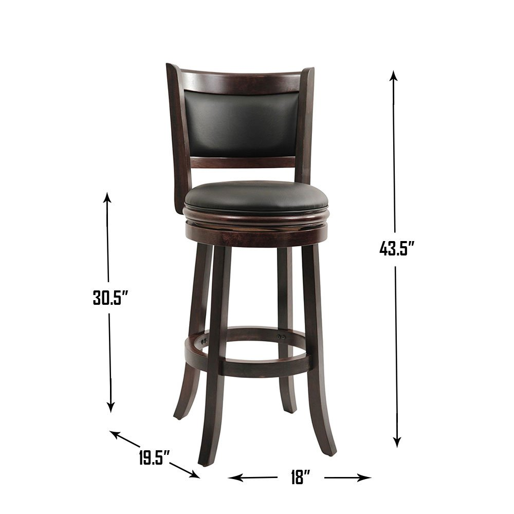 Boraam 48829 Augusta Bar Height Swivel Stool 29 Inch