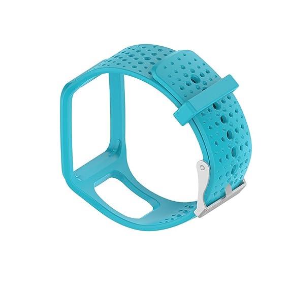 Pulsera de Pulsera de Silicona de Banda Suave de Repuesto para Tomtom Multi Sport/Cardio