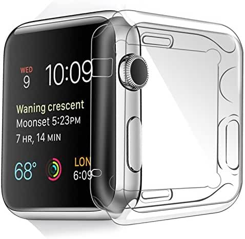Apple Watch Case 42 mm/38 mm Series 1 Case Pacyer Protector Bumper Premium Slim Cover Anti-Scratch Thin PC Plated for iWatch