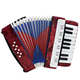 Andoer Mini Small 17-Key 8 Bass Accordion Educational Musical Instrument Toy for Kids Children Amateur Beginner Christmas Gift