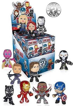 Mystery Mini Toy Action Figures 2 random mystery mini packs Funko Marvel Captain America Civil War