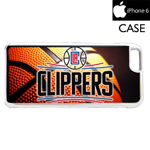 Clippers Basketball iPhone 6 WHITE FRAME hard plastic cell phone Case / Cover Great Gift Idea Los Angeles ()