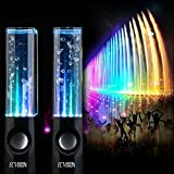 ECVISION Plug And Play Muti-Colored Illuminated Fountain Water Speakers (Black)